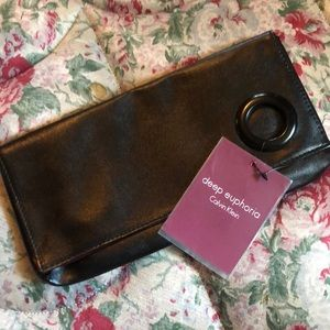 NWT CK Deep Euphoria Evening Clutch